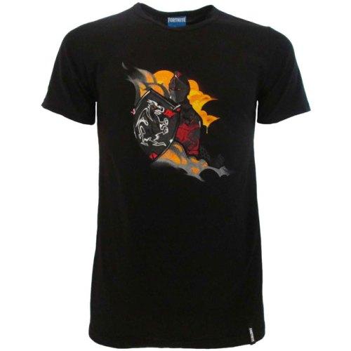 T-shirt nera Fortnite Cavaliere Nero