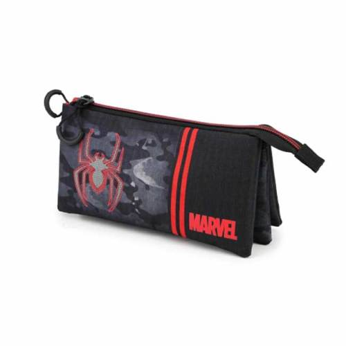 Astuccio 3 scomparti Spiderman Marvel