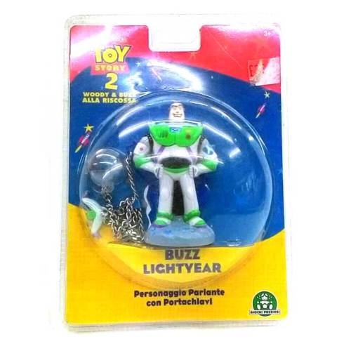 Buzz Lightyear Personaggio Parlante con Portachiavi Vintage