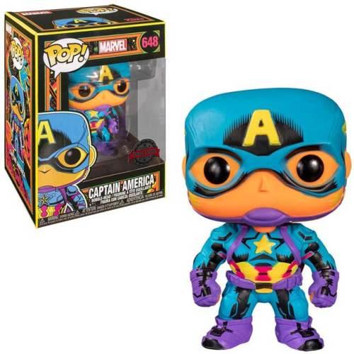 Funko POP Captain America 648 Black Light Marvel Special Edition