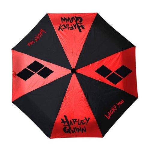 Ombrello Rosso e Nero Harley Quinn