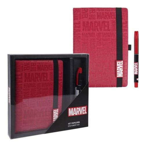 Set Notebook e Penna Marvel