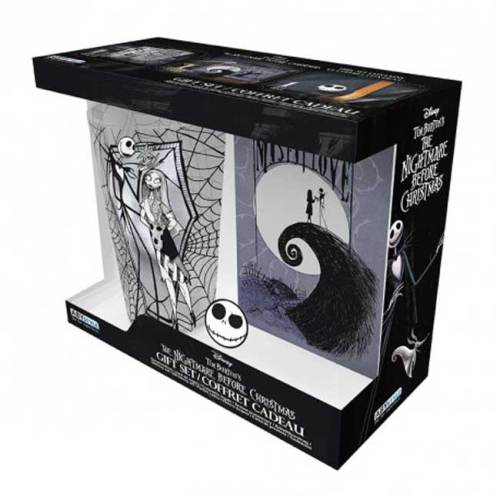 The nightmare before Christmas Tim Burton Gift Set Bicchiere Spilla Notebook