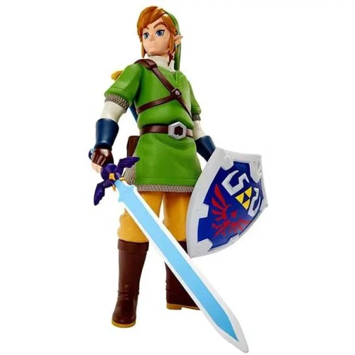 Action Figure Link Legend of Zelda con scudo e spada 50cm