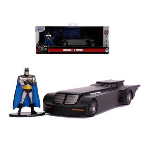 Modellino Animated Series Holliwood Rides Diecast Batmobile e Batman 1 a 32 Jada Toys