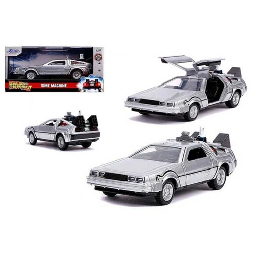 Modellino Time Machine Delorean Back to the Future II Holliwood Rides Diecast scala 1 a 32