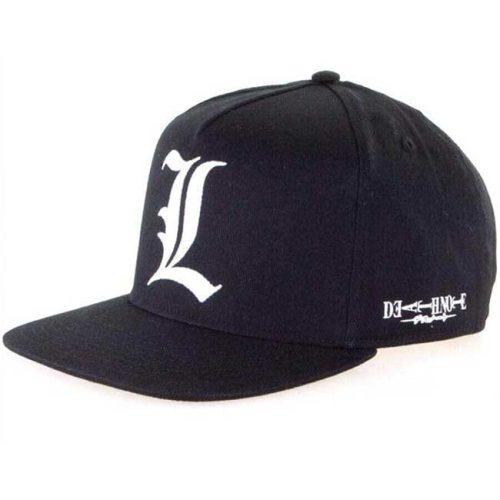 Cappello con visiera regolabile L Death Note e logo laterale
