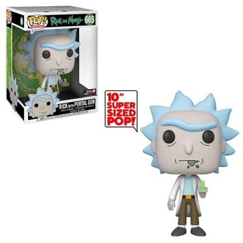 Funko Pop Rick with Portal Gun Rick and Morty 665 Special Edition Super Sized 25 cm