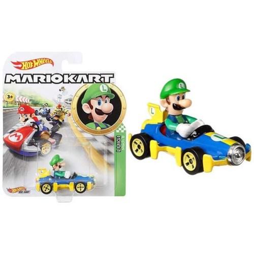 Hot Wheels Super Mario Kart 1 a 64 Luigi 8 cm