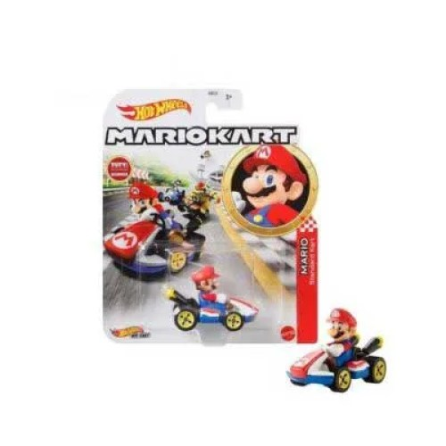 Hot Wheels Super Mario Kart 1 a 64 Mario 8 cm