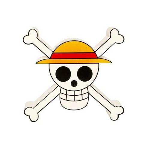 Lampada Logo ciurma Cappello di Paglia 3D One Piece