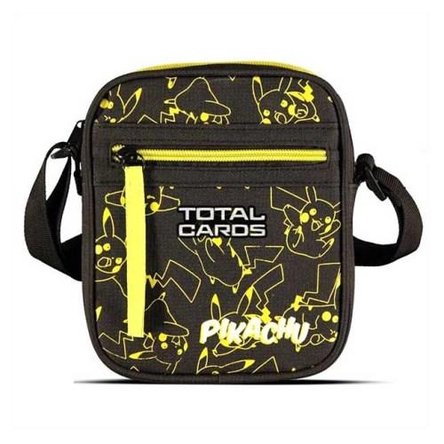 Borsello tracolla Pikachu Pokemon Nero stampa Gialla 16 x 18 cm