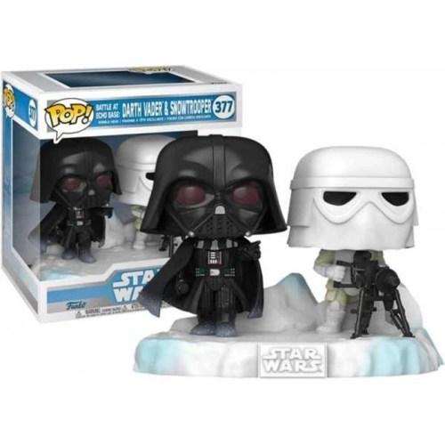 Funko Pop Dart Vader and Snowtrooper 377 Star Wars