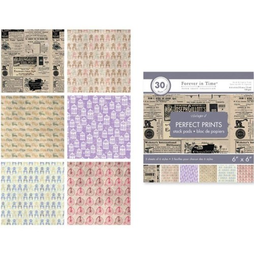 Paper Craft Collections Forever in Time Vintage 4,.