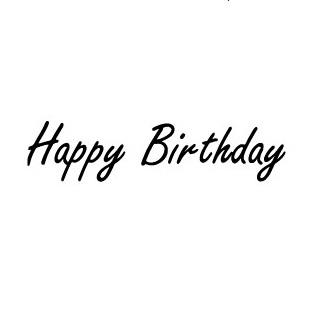 Sello Happy Birthday