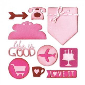Thinlits Die Set – Planner Page Icons by Lynda Kanase