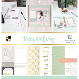 Stack Papel Estampado Journaling, DCWV