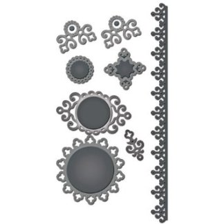Spellbinders, Iron Works Accents, 8 Pkg.