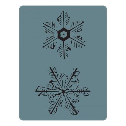 Sizzix Bigz Die w/Texture Fades - Snowflake Duo