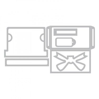 Thinlits Die Set 6PK, Gift Card Package, Sizzix