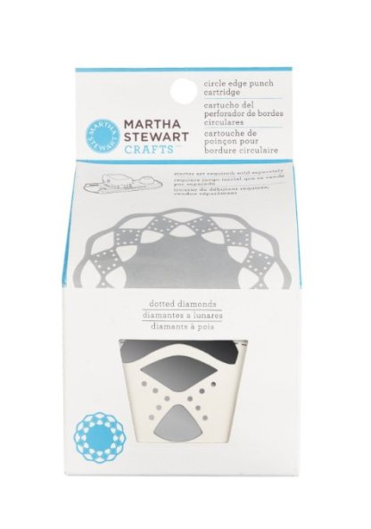 Cartridge Borde Circular, Dotted Diamond Martha Stewart