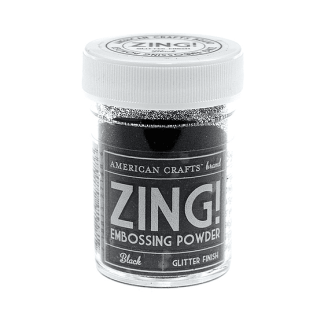 Black Glitter Emboss Powder Zing