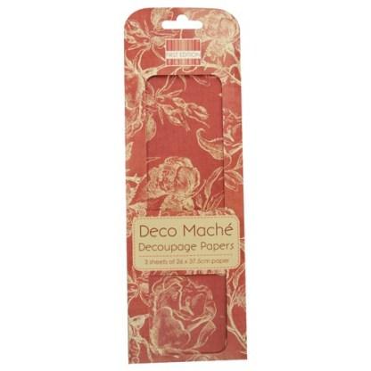 Paper Pack Deocupage Jadore – Red Roses