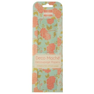 Paper Pack Deocupage Orange Bloom