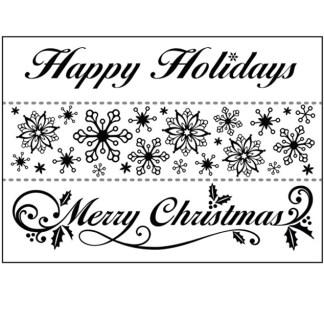 Set Texturizadores Borde Christmas, Darice