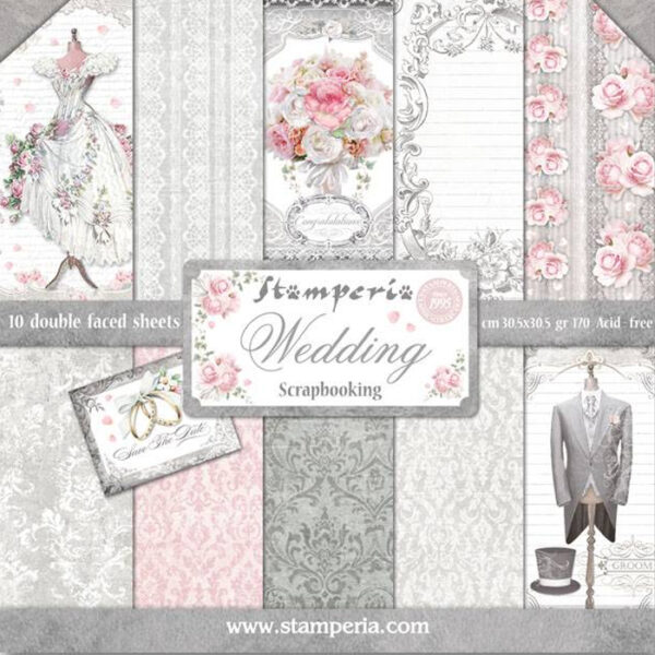 Pack Paper Colection Wedding, Stamperia