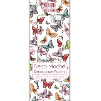 Paper Pack Deocupage Butterflies Brights