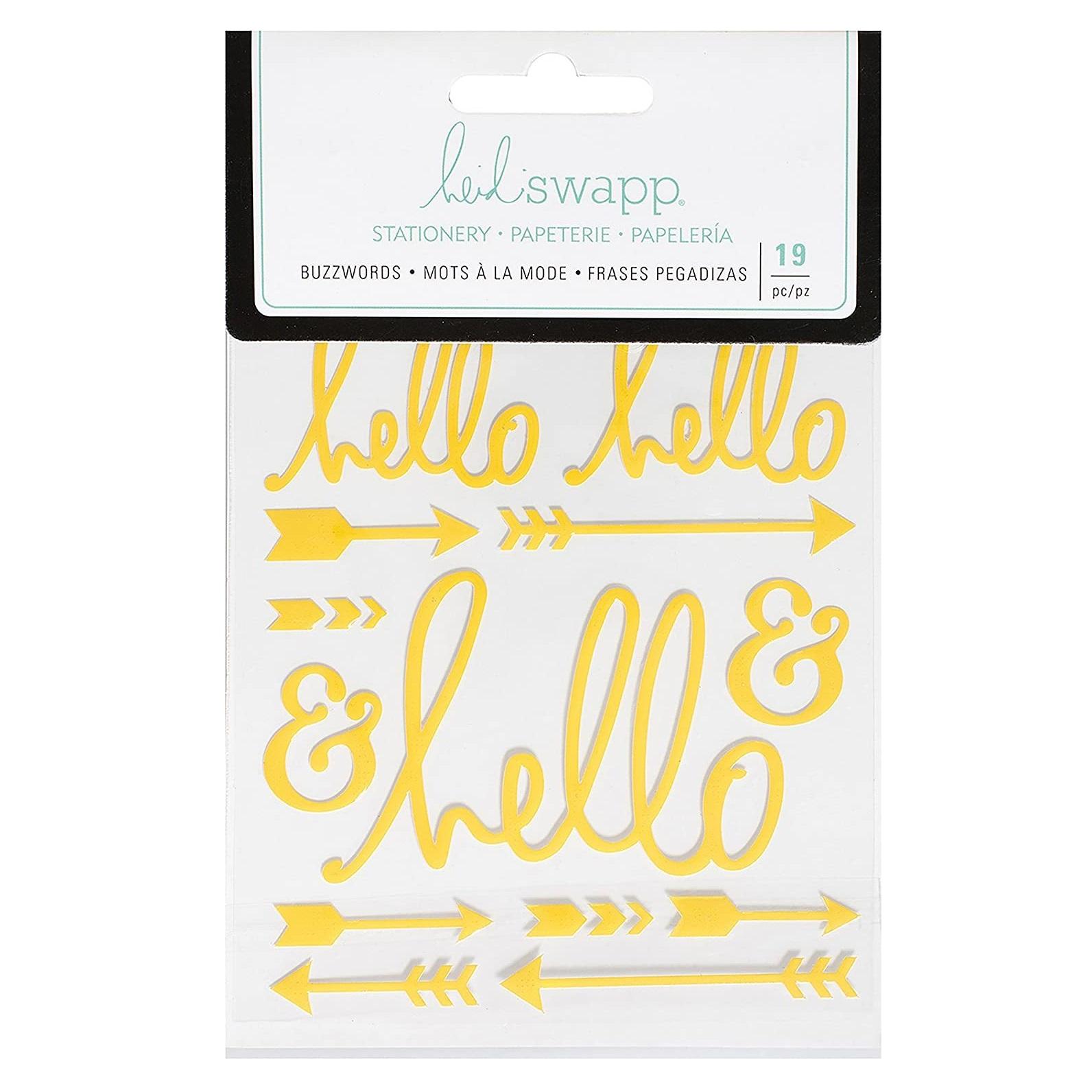 Heidi Swapp® Buzzwords Amarillo Hello Stickers