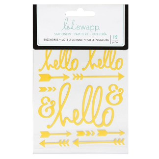 Heidi Swapp® Buzzwords Amarillo Hello Stickers