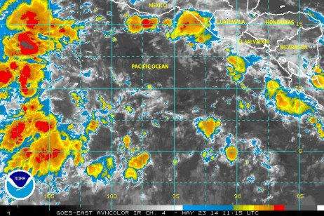 Tropical depression ONE was active in the eastern east Pacific ocean on 22 May 2014!