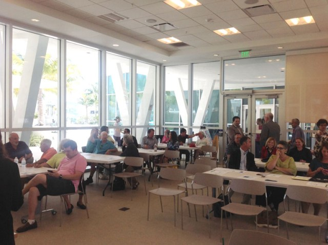 Workshop participants gather and wait for this exciting event hosted by the Town of Surfside