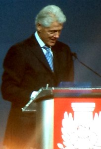 Keynote speaker President Bill Clinton addresses the audience with a message that highlighted the tremendous opportunity that presents itself to the AIA moving forward