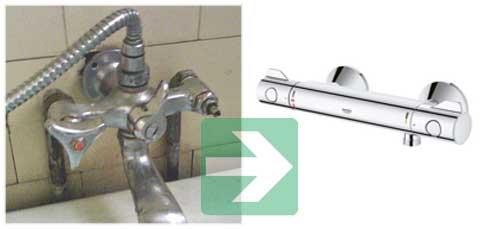 comment changer un mitigeur thermostatique de douche ou de baignoire