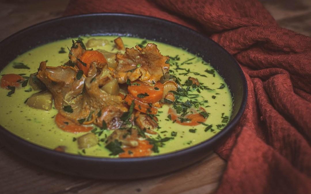Złota zupa kurkowa