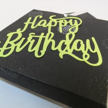 Stampin' Up Berlin Schokoladenziehverpackung DIY Geldgeschenk Thinlits Happy Birthday Limette 5 mitliebeundpapier.wordpress.com