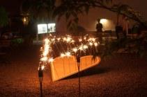 Das Riesenwunderkerzenherz brennt! Bild: Nicolas Ehrat