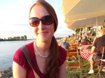 Das bin ich, in der Abendsonne