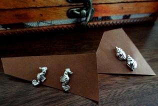 Ohrstecker Seepferdchen und Muscheln für meine Sammlung ;)
