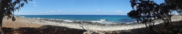 Panorama einsame Bucht.