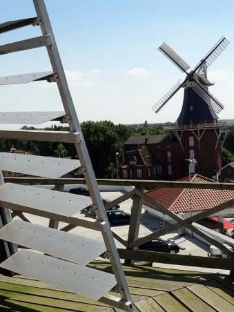 In Norden konnten wir zufällig eine alte Mühle besichtigen.