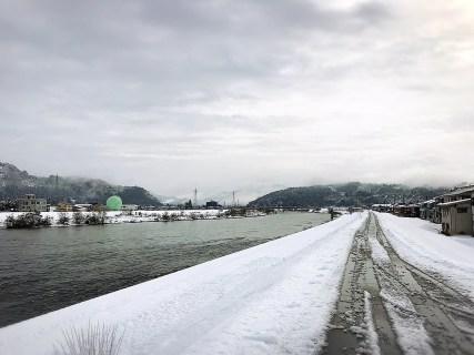 雪景色になりました!