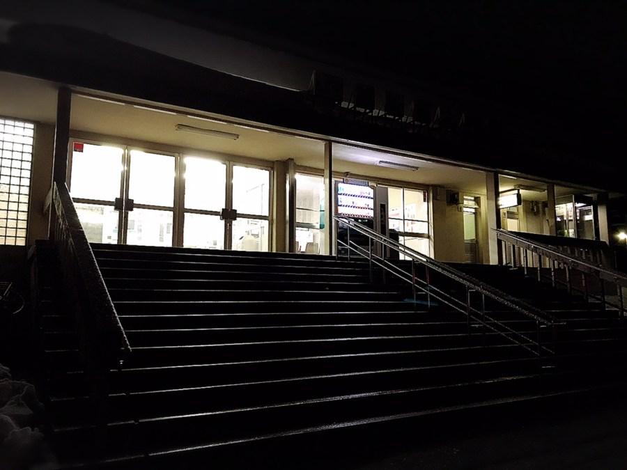 夜明けの堀之内駅
