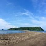 知林ヶ島 砂の道