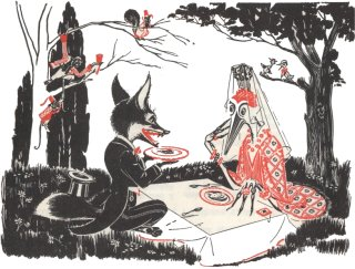 El zorro y la cigüeña