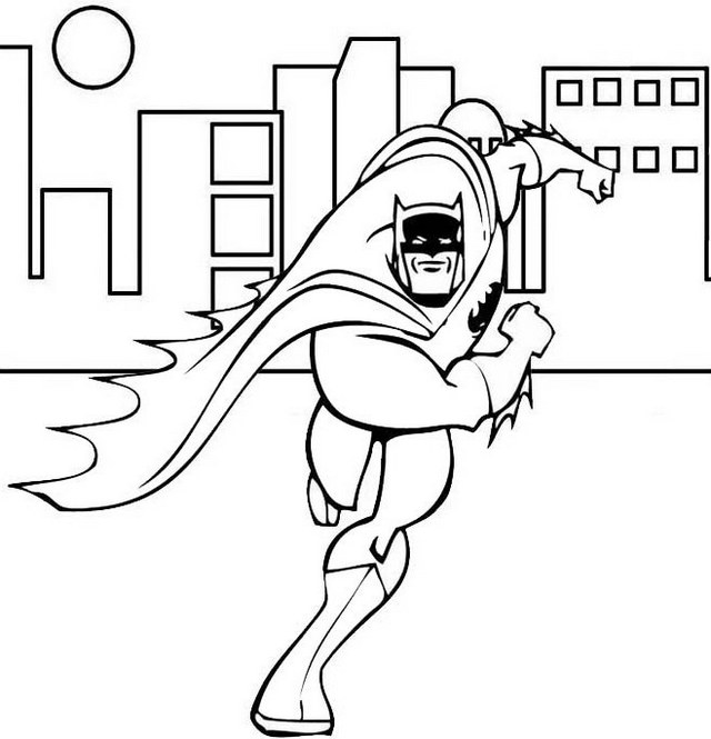 Brave Batman Coloring Superhero Page Mitraland