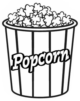 Popcorn Coloring Page Of Food Mitraland